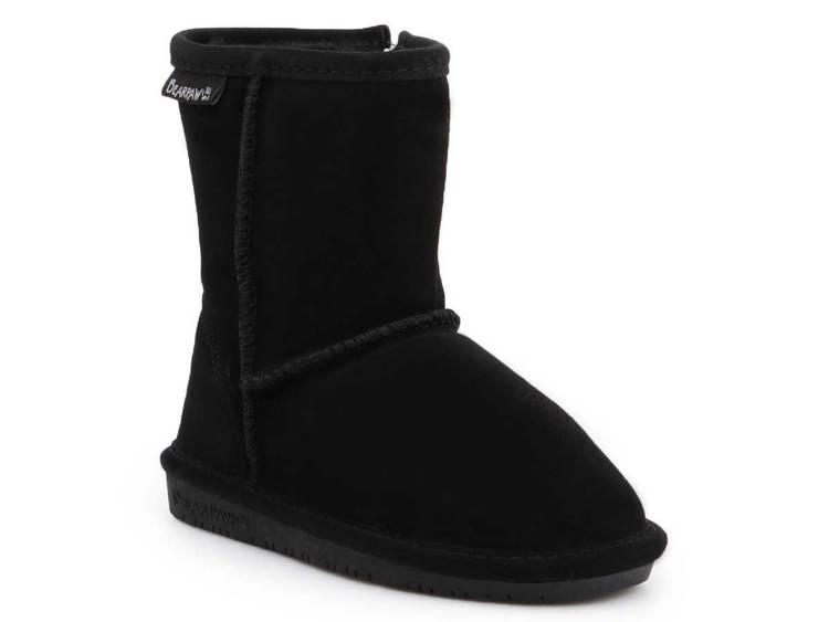 BearPaw 608TZ Black II children's winter shoes