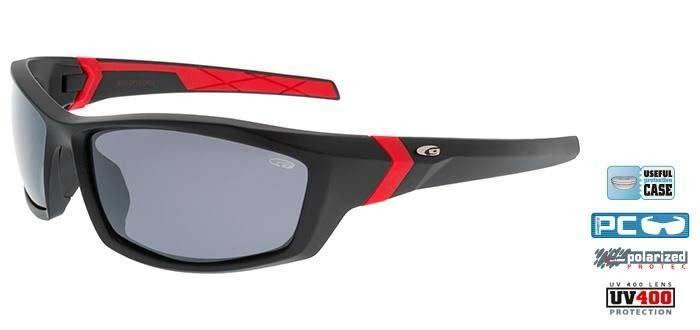 Goggle E111-2P matt black/red