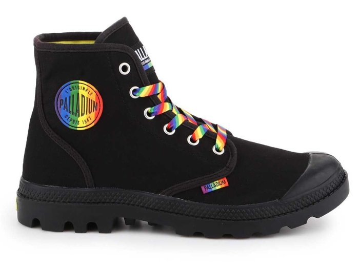 Palladium Pampa Pride Black/Rainbow 76521-054-M