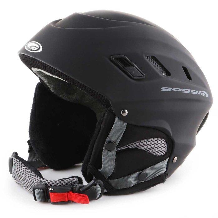 Skihelm Goggle Black Matt S200-1