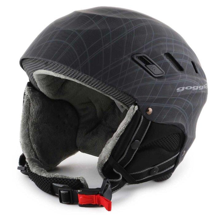 Skihelm Goggle Dark Grey S200-2