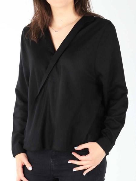 Koszula Wrangler L/S Wrap Shirt Black W5180BD01