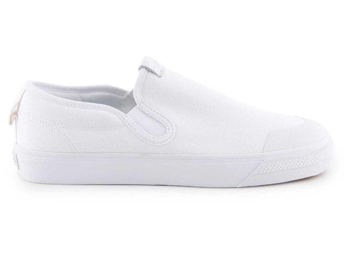 Buty białe męskie Adidas Nizza Slip On EF1185