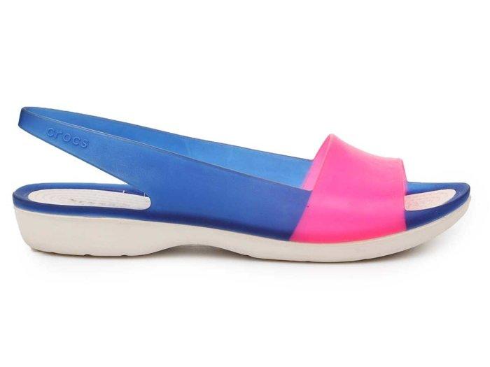 Sandały Crocs Colorblock Flat W 200032-4BK